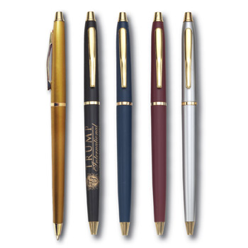 Lodger Twist Action Pen w/ Gold Accents