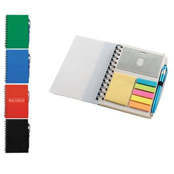 Ultra Notes Plastic Spiral Bound Journal w/Pen